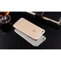 GADGETS WRAP 3D Carbon Fiber Back Body Film Sticker Wrap Skin for Apple iPhone 6 6s - Transparent (CO)