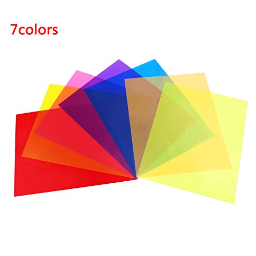 lovely 14 Pack Light Gels Colored Overlays Transparency Color Film ...