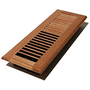 Decor Grates WL414-N Wood Louver Floor Register, Natural Oak, 4-Inch by 14-Inch
