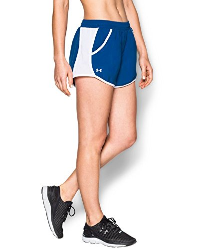Under Armour Women's Fly-By Run Short, Royal/White, X-Small