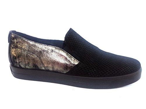 amp;co sneaker Italy donna slip in on Scarpa NERO nero Igi 6747 made w17XBqB