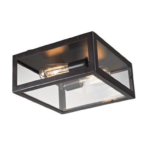 Elk 63021-2 Parameters-Bronze 2-Light Flush Mount, Bronze