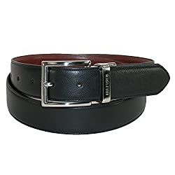 Tommy Hilfiger Men's Dress Reversible Belt with Polished Nickel Buckle