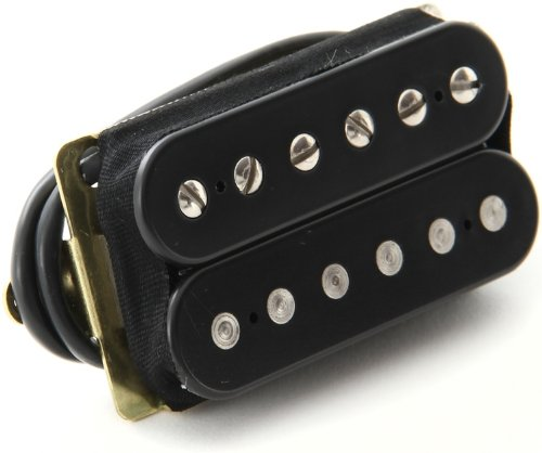 (DiMarzio DP155FBK Tone Zone Bridge Humbucker Pickup Black F-Spaced w/Bonus RIS Pick (x1) 663334006942)