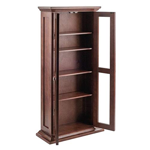 3 · ghy Doored Bookcase Glass Display Four Adjustable Shelves Large Tall  Storage Organizer Living Room Office Walnut - Top 10 Antique Bookcases With Glass Doors Of 2019 No Place Called Home