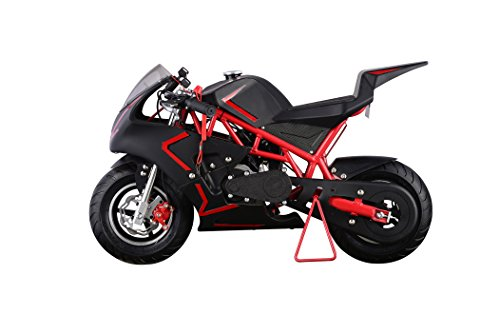 Pocket Bike Mini Motorcycle 4 Stroke Gas Power (RED) (Gas Dirt Bikes For 14 Year Olds)