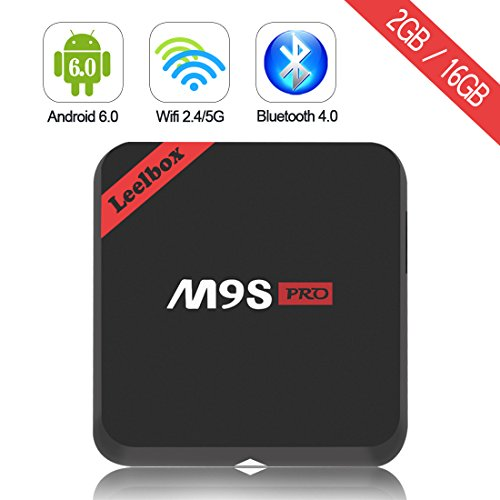 Amazon #DealOfTheDay: [Pure Version] 2017 TOP configuration Leelbox M9S Pro Android tv box Android 6.0/64Bit/S912 Octa-cor