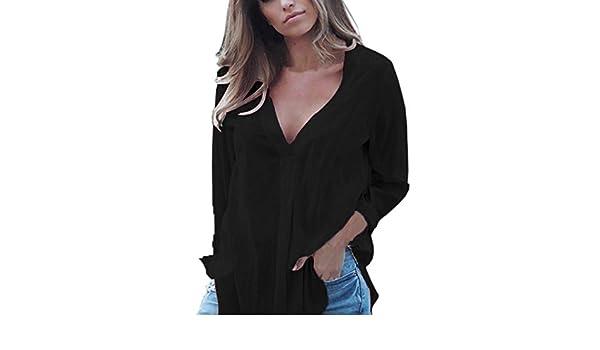 YJYDADA - Camisa de Gasa para Mujer, Manga Larga, Estilo Casual ...