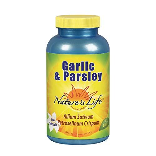 Nature's Life Garlic & Parsley Softgels, 500 Count