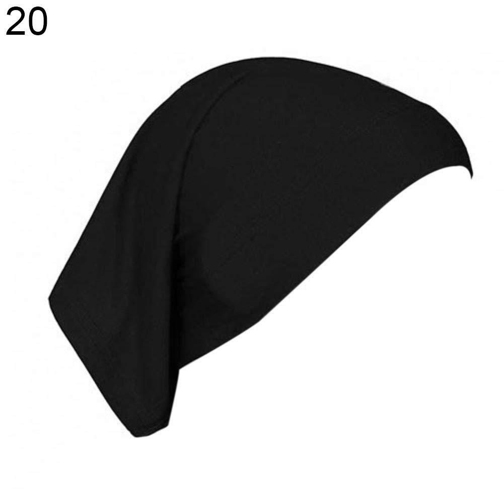 Islamic Muslim Hijab Women's Head Scarf Cotton Underscarf Cover Headwrap Bonnet