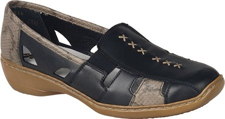 Rieker-Antistress Size Women's Doris 85 Black/Leinen Size Rieker-Antistress 36 M B01DJN5MS4 Shoes ee3441
