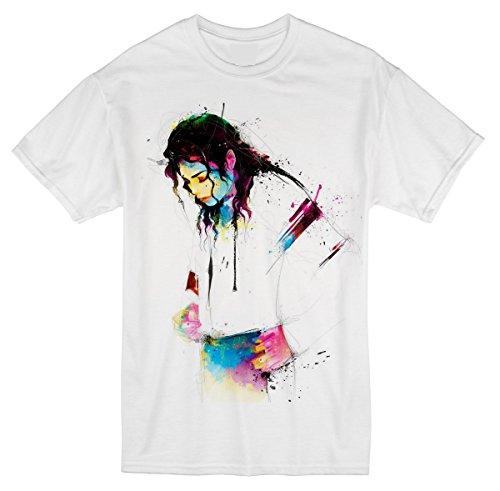 Palalula Men's Music King of Pop Michael Jackson Tribute T-Shirt XXXXL White