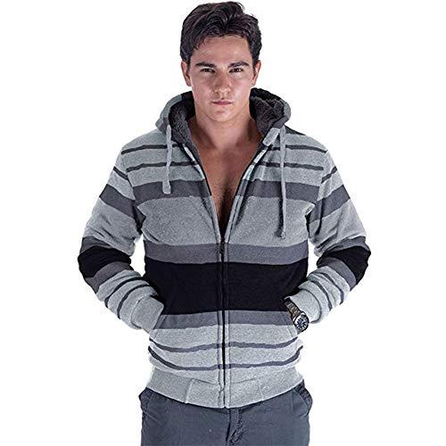 Men's Full-Zip Heavyweight Fleece Hoodie Sweatshirts, Black Hoodies for Men ()