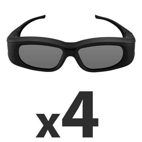 Compatible Epson ELPGS03 (4 Pack) 3D Glasses by Quantum 3D (G5)