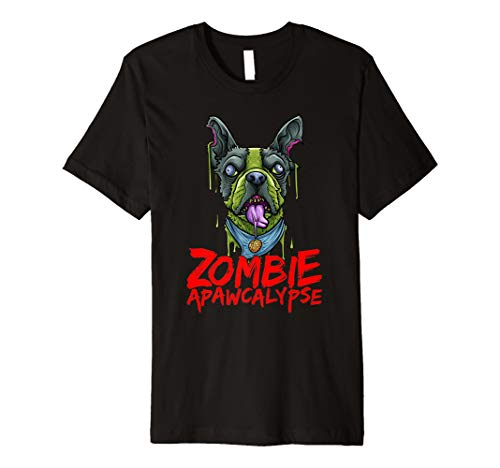 Zombie Dog French Bulldog APAWCALYPSE Halloween Shirt ()