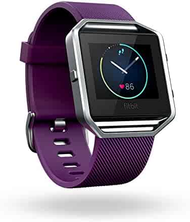 Fitbit Blaze Smart Fitness Watch, Plum, Silver, Small