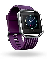 Fitbit Blaze Smart Fitness Watch, Plum, Silver, Large (Us Version)