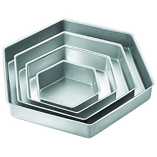 Wilton Performance Pans Hexagon Cake Pan Set, 4-Piece