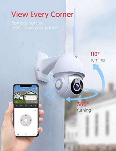CCTV Camera Victure Security Camera Outdoor 1080P for Home Security with Pan/Tilt 360° View Night Vision IP66 Waterproof…