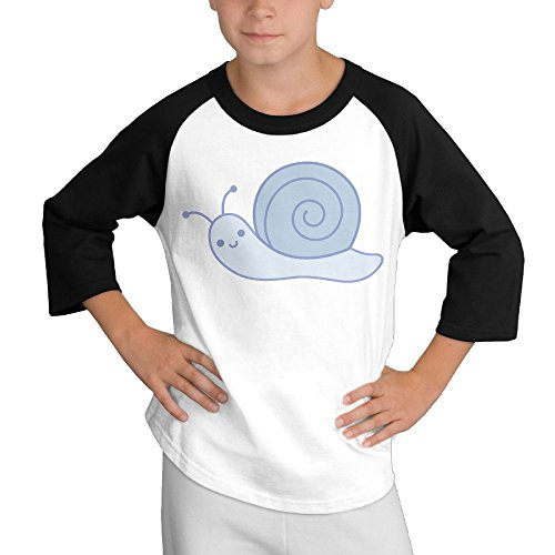 Price comparison product image MULTY9 Cute Cartoon Snail Child Youth 3/4 Sleeve T Shirts Small