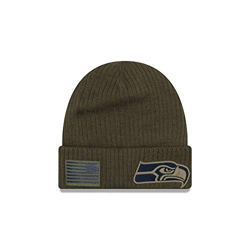 New Era 2018 Mens Salute to Service Knit Hat (Seattle Seahawks)