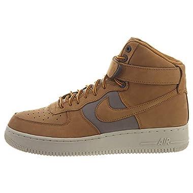timeless design b2d5e 4af63 Nike Mens Air Force 1 HI 07 PRM WheatLight BoneYellow Ochre