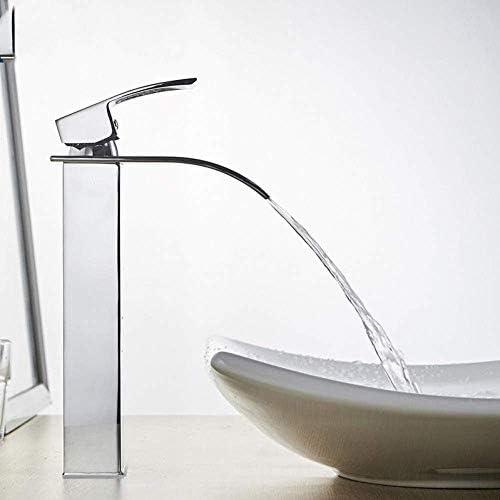 DXX-HR 蛇口キッチンタップ滝の浴室のシンクの蛇口デッキマウントホット冷たい水流域ミキサータップクローム洗面所のシンクタップポリッシュ