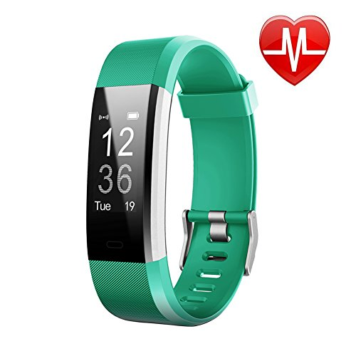 Fitness Tracker HR, Letscom Activity Tracker with Heart Rate Monitor Watch, IP67 Waterproof Smart Wristband with Calorie Counter Watch Pedometer Sleep Monitor for Kids Women - Run All 4 Women