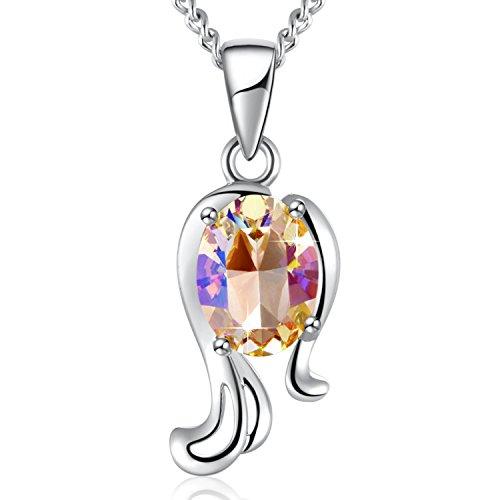 PLATO H Virgo Necklace, Swarovski Element Necklace 12 Zodiac Constellation Horoscope Charms Crystal Pendant Necklace Jewelry, Birthday Birthstone Gifts for Women, 20