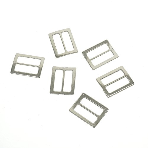YOYOSTORE 20pc Metal Square Ring Buckle DIY Luggage Belt Shoe Hat Slide Making Sewing Craft Inside Width 25mm Diy (Square Covered Buckle)