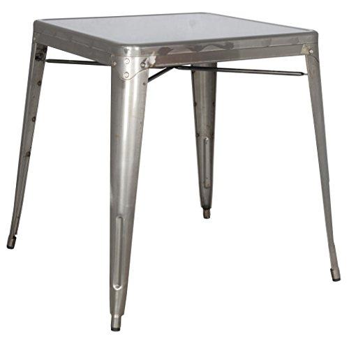 Milan DT-Gun Irene Steel Dining Table, Metal