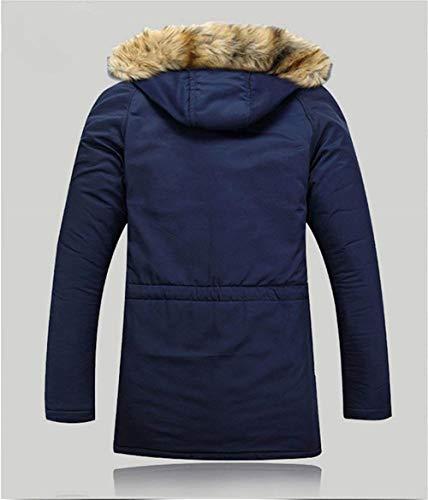 Nvfshreu Short Fashion Lovers Warm Jacket Dunkelblau Fur Coat With Quilted Capispalla Blouson Hood Down rZqrxztU