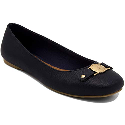 Nautica Women's Pembina Ballet Flats Casual Soft Dress Walking Shoes-Navy-8