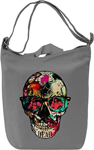 Skull With Sunglasses Borsa Giornaliera Canvas Canvas Day Bag| 100% Premium Cotton Canvas| DTG Printing|