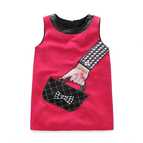 Baby Clothes, Franterd Fashion Girl Princess Dress Kids Handbag Print Outfit