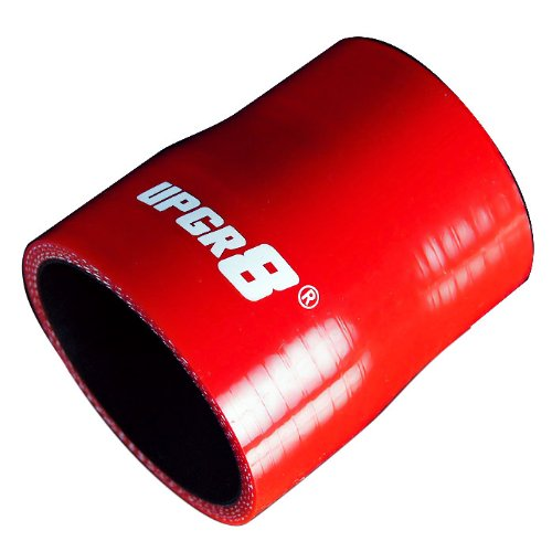 Ronteix 4-Ply High Performance Straight Reducers Silicone Hose 76mm Length 76MM 89MM 3.5 to 3 , RED//BLACK