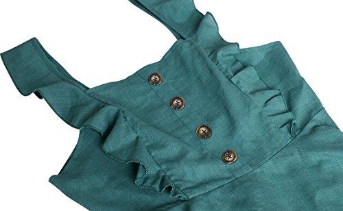 Ainr Survêtement Veste Évasée Balançoire Plissé Une Ligne Robe Patineuse Vert