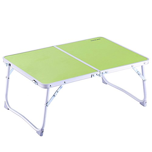"Laptop Table, Superjare Large Bed Tray, Portable Outdoor Camping Table (Mini), Foldable Laptop Desk, Breakfast Tray with Legs - 23.2""x 16.1"" Green"