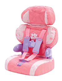 Cadson Car Seat and Booster with Seatbelt for Dolls and Stuffed Animals - Bring Your Favorite Friend for a Ride, Pretend Play Toy, Plush Travel, Pink, 13 Inches BOBEBE Online Baby Store From New York to Miami and Los Angeles