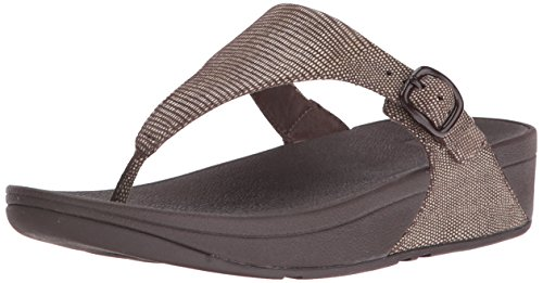 FitFlop Women's the Skinny Lizard Print Flip Flop, Chocolate Brown, 8 M (Lizard Print Sandal)