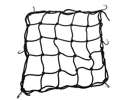 Boxer Tools Heavy-Duty 15 Cargo Net for Motorcycles, ATVs - Stretches to 30 (Black)