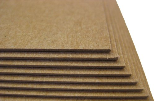 50 Sheets Chipboard 46pt (Point) 8.5'' X 14'' (8.5X14 Inches) Legal|Menu Size .046 Caliper Thick Cardboard Craft|Packaging Brown Kraft Paper Board by ThunderBolt Paper (Image #2)