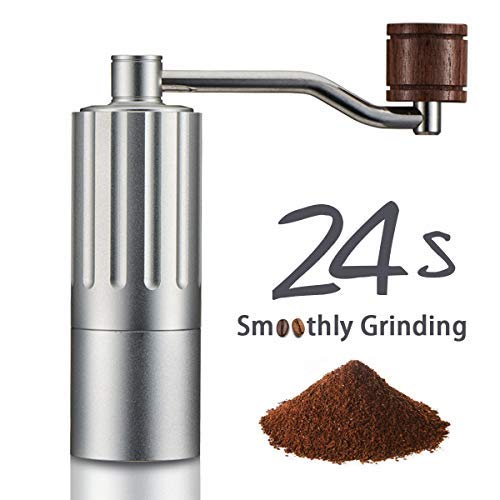 Super Smoothly Manual Coffee Grinder, 24 Seconds Easy Grinding, Upgrade with Double Bearing Stable Grinding, Adjustable Stainless Steel Core, Pure Copper Anti-Static Gasket, Aluminum Alloy Overall Body. Save Your Energy, Enjoy the Best Coffee Grinding Experience, Upscale Gift/Home Kitchen Travel Coffee Maker by COSA MEJOR (Coffee Grinder Hiking)