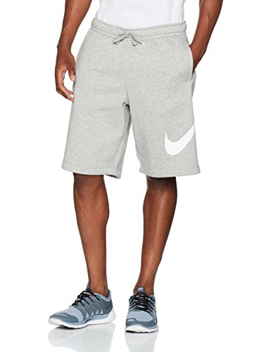 Nike Mens Club Explosive Shorts Grey Heather/White 843520-063 Size Medium