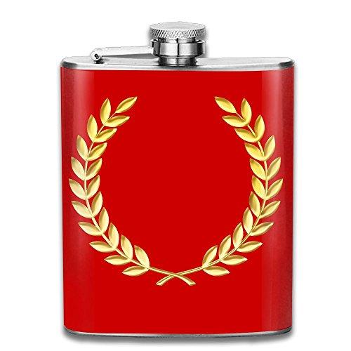Laurel Wreath Crown Stainless Steel Hip Flask 100% Leak Proof Wine Bottles Classic Flask Fashion Ideal Gift For Men Women,7 (Tiara Decanter)