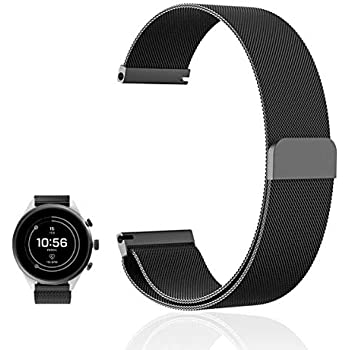 Amazon.com: for Fossil Sport Band, FRGNIE Milanese Stainless ...