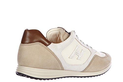 Hogan chaussures baskets sneakers homme en cuir olympia h 205 gris