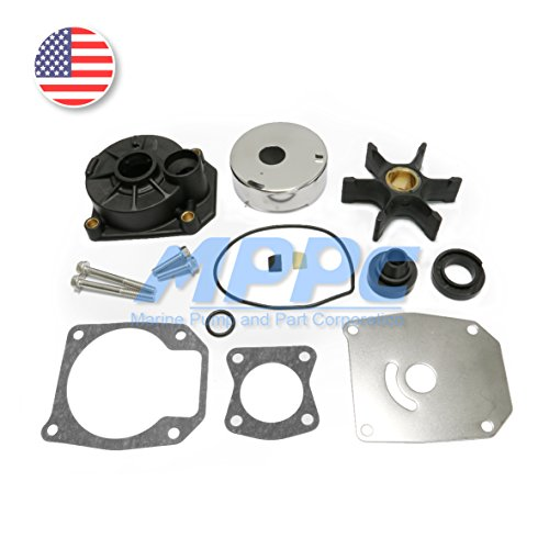 Johnson Evinrude 40 45 50 55 60HP Outboard Motor Parts Water Pump Impeller Replacement Rebuild Kit With Housing 5000308 (Johnson 40 Hp Outboard Motor)