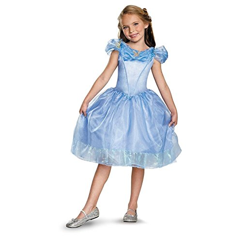 [Disguise Cinderella Movie Classic Costume, Medium (7-8)] (Hollywood Fancy Dress)