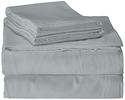 Brielle 100-Percent Cotton Flannel 4 Piece Sheet Set, Twin / Twin XL, Light Blue ()